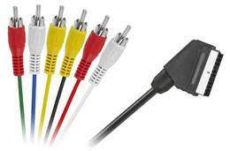 Kábel SCART - RCA 6x ,1,2m