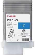 Cartridge Canon PFI-102C, azúrová (cyan), originál