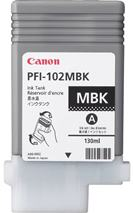 Cartridge Canon PFI-102MBK, matná čierna (matte black), originál