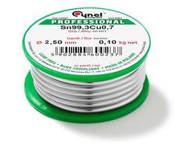Cín 2,5mm/100g  CYNEL Sn99,3Cu0,7 bezolovnatý