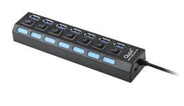 HUB USB 3.0  7 portovy Quer PRO