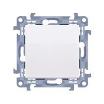 Záslepka Simon 10 s plastovým rámom modul biela