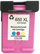 Cartridge HP 650 (CZ102AE), farebná (tricolor), alternatívny