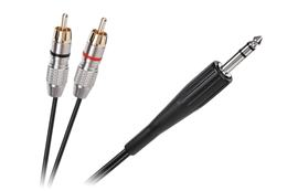 Kábel Jack 6,3mm - RCA 2x, 1,8m