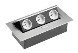 Zásuvkový set výklopný GTV 3 x 230V