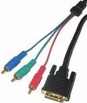 Kábel DVI(24+1) - RCA 3x, 1,8m