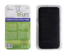 Ochr.kryt zadný s bat.M-LIFE IPHONE 4 čierny 1900mA
