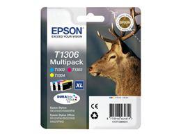 Cartridge Multipack EPSON T1306 (C13T13064010) C/M/Y - originál