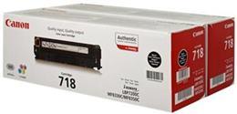 Toner Canon CRG-718 black (2 ks) - originál (2 x 3 500 str.)