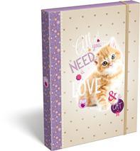 Box na zošity A4, PET Cat