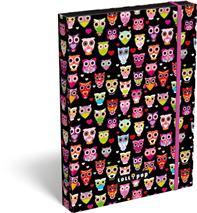 Box na zošity A4, LOLLIPOP Black Owl