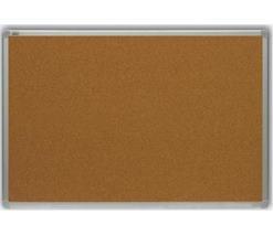 Korková tabuľa, 60x90 cm, hliníkový rám, CLASSIC