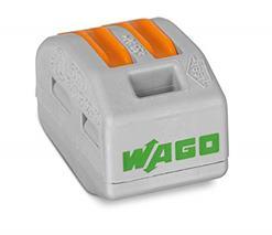 Krabicová svorka s páčkou 222-412 (WAGO) 2x 0,08-2,5 (4,0) mm2
