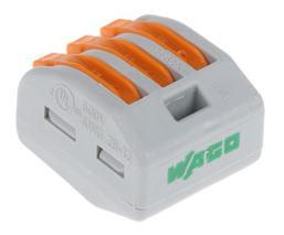 Krabicová svorka s páčkou 222-413 (WAGO) 3x 0,08-2,5 (4,0) mm2