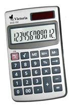 """Kalkulačka, vrecková, 12 miestny displej, VICTORIA \""""GVZ-152"""