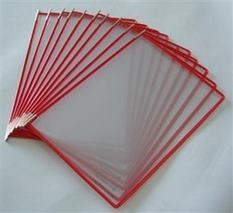 Prezentačná tabuľa, A3, plastová, na ležato, TARIFOLD, červená