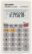 "Kalkulačka, vrecková, 8 miestny displej, SHARP \""EL-233ER"