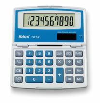 """Kalkulačka, vrecková, 10 miestny, otvárateľná, IBICO \""""101X"""