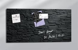 """Magnetická sklenená tabuľa, 91x46 cm, SIGEL """"Artverum® """", bridlica"""