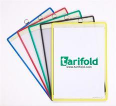 Závesná prezentačná tabuľa, A4, stojatá, kovové uško, zelený rám