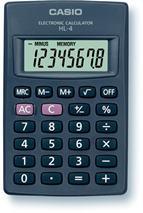 """Kalkulačka, vrecková, 8 miestny displej, CASIO \""""HL-4T"""