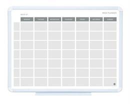 Plánovacia tabuľa týždenná, magnetická, 45x60 cm