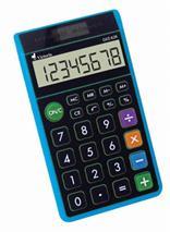 """Kalkulačka, vrecková, 8 miestny displej, ekologická, VICTORIA \""""GVZ-62K\"""", modrá"""