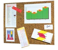 Post-it odkazová tabuľa, 46x58cm, korok, hnedá