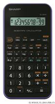"""Kalkulačka,vedecká, 131 funkcií, SHARP \""""EL-501XVL\"""", fialová"""