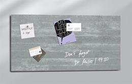 """Magnetická sklenená tabuľa, 91x46 cm, SIGEL \""""Artverum® \"""", betónový vzor"""