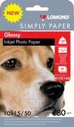 Fotopapier Lomond, lesklý, 180 g/m2, 10x15, 50 hárkov, Economy