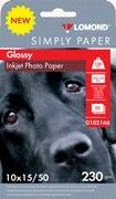 Fotopapier Lomond, lesklý, 230 g/m2, 10x15, 50 hárkov, Economy