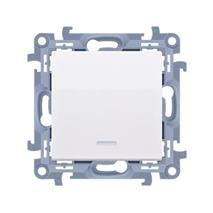 Vypínač tlačidlový Simon 10 LED modul biely