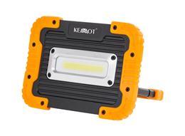 LED Reflektor 10W 4000K s USB káblom + akumulátor