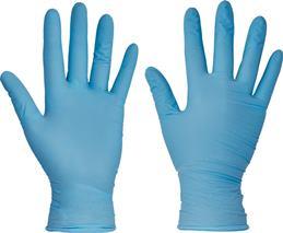 Jednorázové nitrilové rukavice modré, púdrované, balenie 100ks, veľkosť M - 8