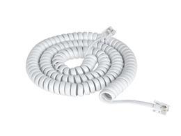 Kábel tel. 4P4C - 4P4C, 7,5m krút.biely