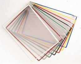 Prezentačná tabuľa, A3, plastová, stojatá, magnetická, TARIFOLD, mix farieb