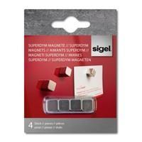 "Magnetka, extra silná, štvorcová, 4 ks, SIGEL \""Superdym"