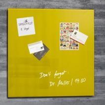 "Magnetická sklenená tabuľa, 48x48 cm, SIGEL ""Artverum® "", žltá"