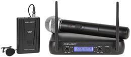 Mikrofón bezdrôtový VHF WR-358LD ručný+klip 2-kanál