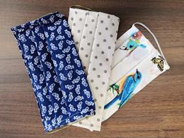 2-vrstvové textilné rúško s gumičkou, mix farieb