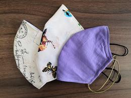 2-vrstvové textilné rúško s gumičkou, mix farieb, V-čkový tvar