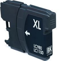 Cartridge Brother LC980BK, čierna (black), kompatibilný