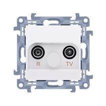 Zásuvka RTV Simon 10 priechodná 10dB modul biela
