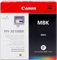Cartridge Canon PFI-301MBK, matná čierna (matte black), originál