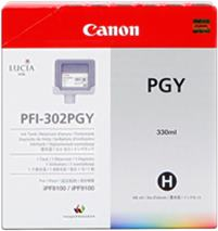 Cartridge Canon PFI-302PGY, foto sivá (photo grey), originál