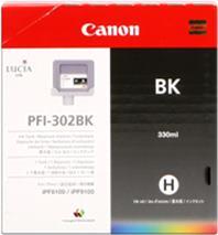 Cartridge Canon PFI-302BK, čierna (black), originál