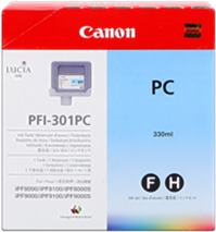 Cartridge Canon PFI-301PC, foto azúrová (photo cyan), originál