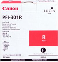 Cartridge Canon PFI-301R, červená (red), originál