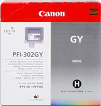 Cartridge Canon PFI-302GY, sivá (grey), originál
